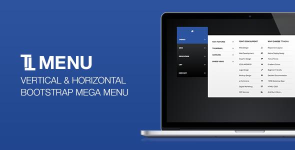 TT Menu – Vertical Horizontal Bootstrap Mega Menu PHP Script Download