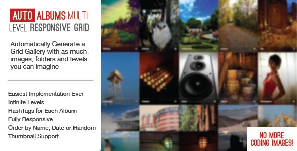 Auto Photo Albums – Multi Level Image Grid PHP Script Download