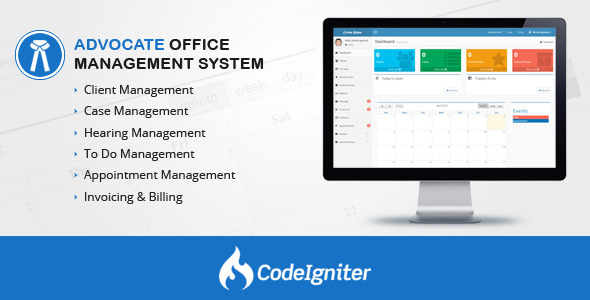 Advocate Office Management System v1.3 PHP Script