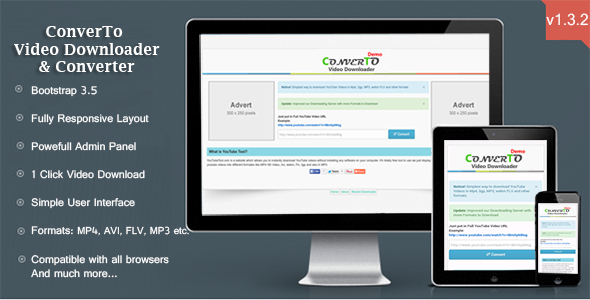 ConverTo v1.3.2 – Video Downloader & Converter PHP Script Download