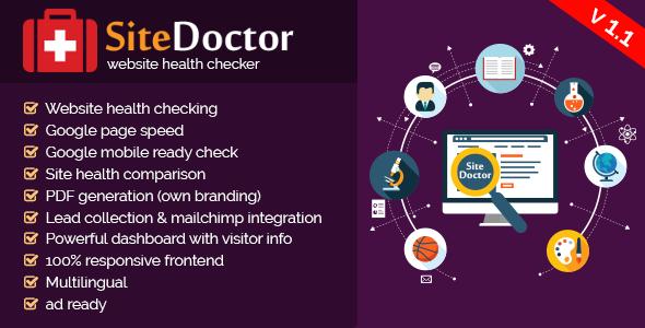 SiteDoctor v1.1 – website health checker PHP Script Download