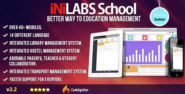 Inilabs v2.2 – School Management System Express PHP Script Download