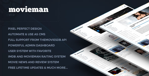 Movieman – Premium Movies, TV Shows & News CMS PHP Script Download