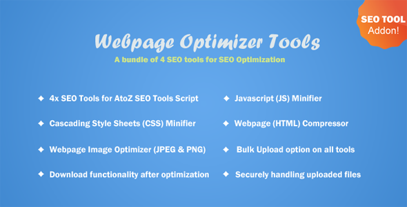 Webpage Optimizer Tools for A to Z SEO Tools PHP Script Download