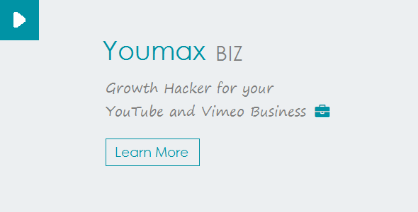Youmax v2 – Grow your YouTube and Vimeo Business PHP Script Download