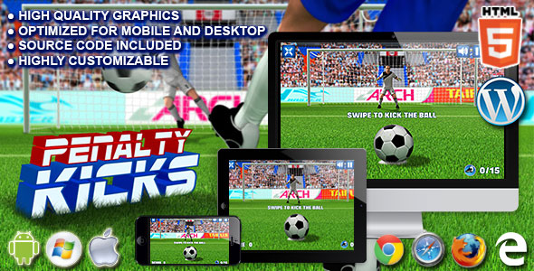 Penalty Kicks – HTML5 Sport Game PHP Script Download