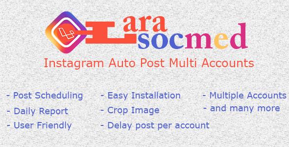 LaraSocMed – Instagram Auto Post Multi Accounts PHP Script Download