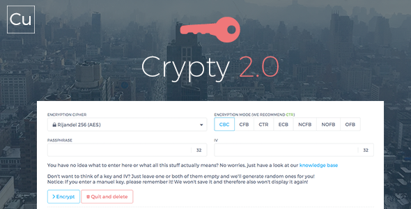 Crypty 2.0 PHP Script Download
