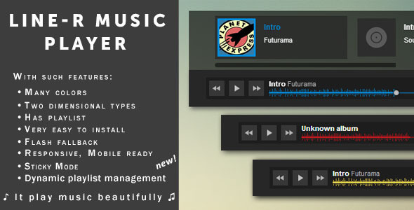 Sticky Music Player for music shops & sites — «Line-R» PHP Script Download