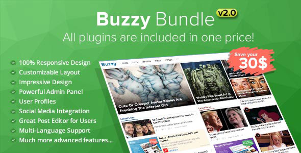 Buzzy Bundle – Viral Media Script v2.0 PHP Script Download