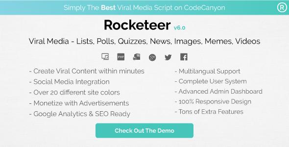 Rocketeer v6.1 PHP Script Download