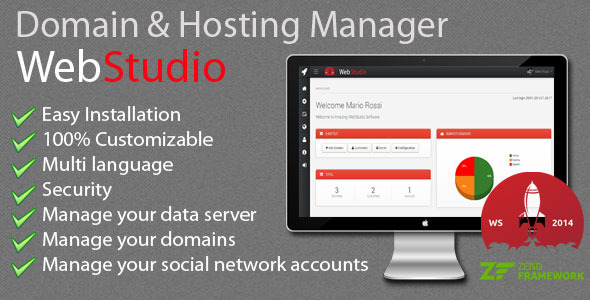 Web Studio – Domain & Hosting Manager PHP Script Download