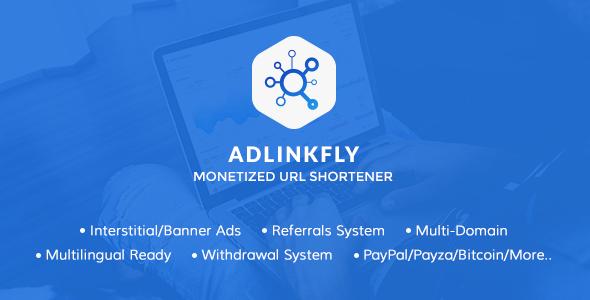 AdLinkFly v3.7.2 – Monetized URL Shortener PHP Script Download
