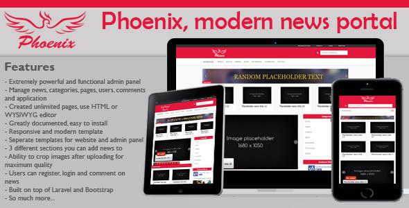 Phoenix v1.4 – modern & minimalist news portal PHP Script Download