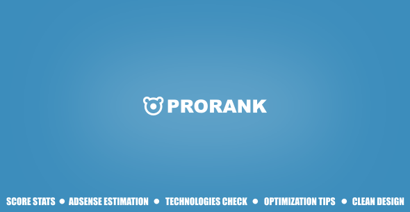 ProRank v1.0.2 – Analyzer stats website PHP Script Download