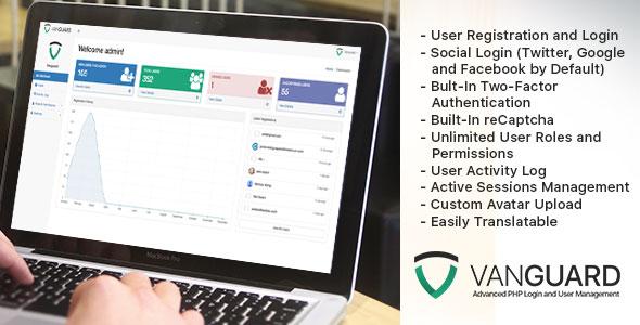 Vanguard v2.1.0 – Advanced PHP Login and User Management PHP Script Download