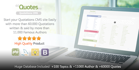 Quotes v1.0.4 – Quotation CMS PHP Script Download