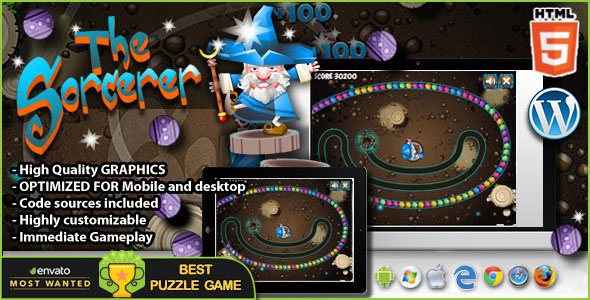 The Sorcerer – HTML5 Game PHP Script Download