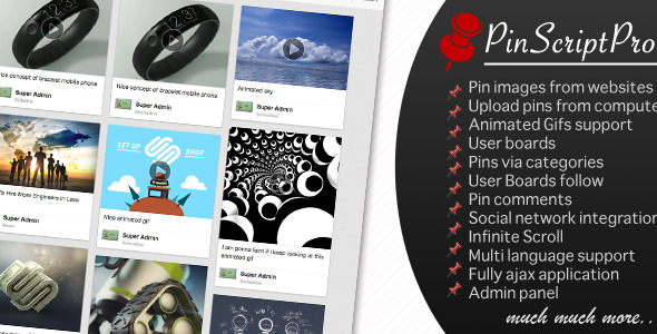 PinScriptPro – Pinterest Like Website PHP Script Download