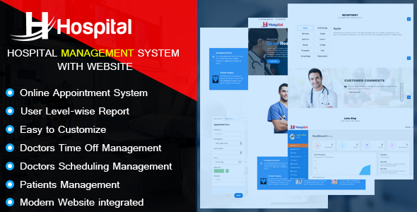Hospital – Hospital Management System with Website PHP Script Download