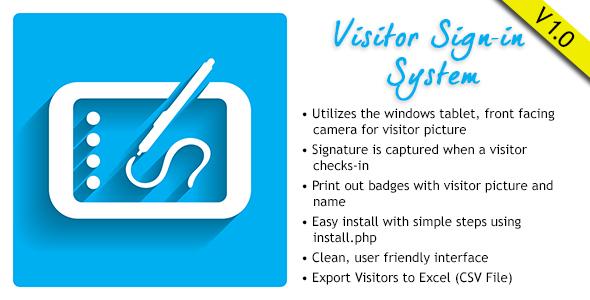 Visitor Signin System v1.0.1 PHP Script Download