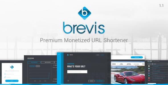 Brevis v1.3.1 – Premium Monetized URL Shortener PHP Script Download