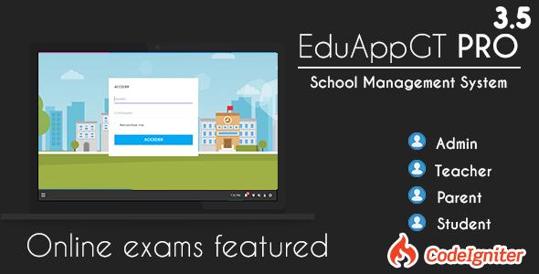 EduAppGT Pro – School Management System PHP Script Download