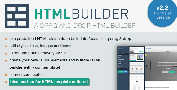 HTML Builder (Front-End Version) v2.28 PHP Script Download
