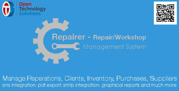 Repairer – Repair/Workshop Management System 1.2 PHP Script Download