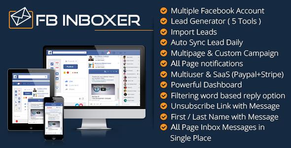 FB Inboxer – Master Facebook Messenger Marketing Software PHP Script Download