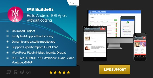 Ionic Mobile App Builder v17.02.01 PHP Script Download