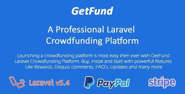 GetFund – A Professional Laravel Crowdfunding Platforms PHP Script Download