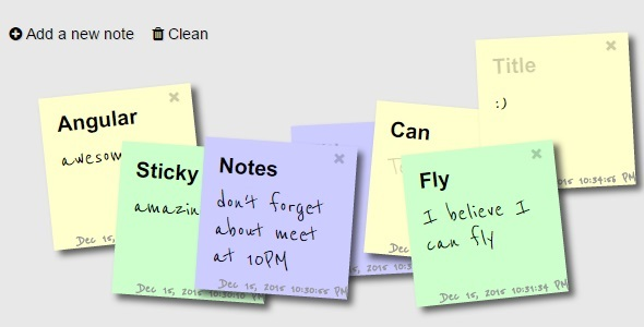 Sticky Notes PHP Script Download