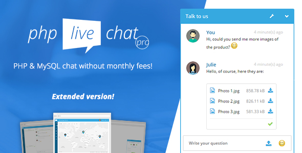 PHP Live Chat Pro PHP Script Download