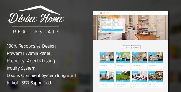 Divine Home – Real Estate Portal PHP Script Download