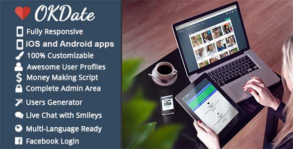 OKDate v2.1 – Complete Dating Platforms: Website, iOS/Android Apps, Backend PHP Script Download