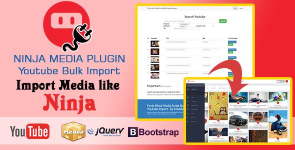 Ninja Media Bulk Youtube Importer Plugin PHP Script Download