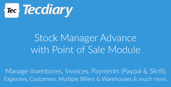 Stock Manager Advance with Point of Sale Module v3.2.2 PHP Script Download
