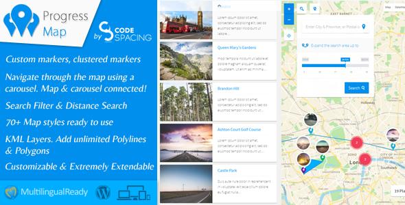 Progress Map WordPress Plugin v3.6 PHP Script Download