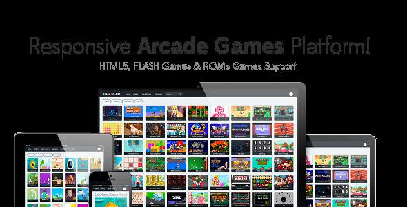 Responsive HTML5, Flash Games & ROMs Games Platforms – Arcade Game Script v1.2.1 PHP Script Download