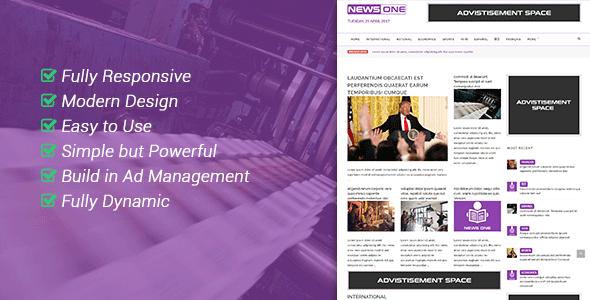 NewsOne – Creative Solution For Newspaper Magazine & Blog PHP Script Download