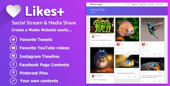 Likes Plus – Social Stream & Media Share PHP Script Download