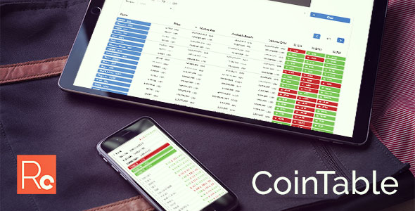 Coin Table – Cryptocurrency Market CMS PHP Script Download