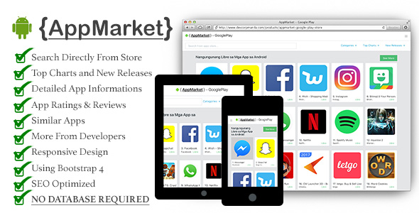 AppMarket – Google Play Store PHP Script Download