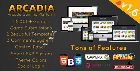 Arcadia v1.6.6 – Arcade Gaming Platforms PHP Script Download