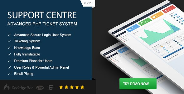 Support Centre v2.2.0 – Advanced PHP Ticket System PHP Script Download