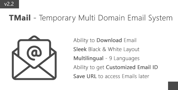 TMail – Multi Domain Temporary Email System PHP Script Download