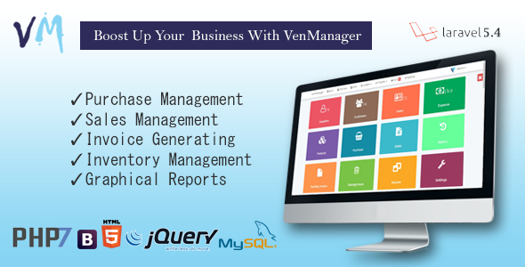 VenManager – Inventory, Account & Sales Management PHP Script Download