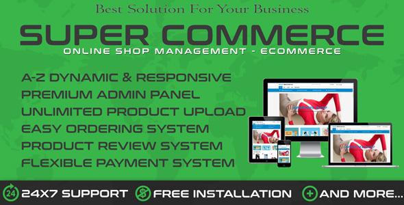 SuperCom – Online Shopping Ecommerce Cart PHP Script Download