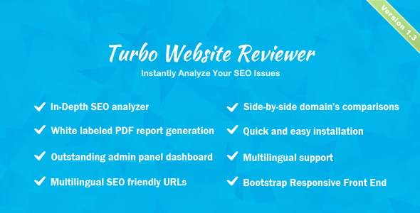 Turbo Website Reviewer v1.2 – In-depth SEO Analysis Tool PHP Script Download